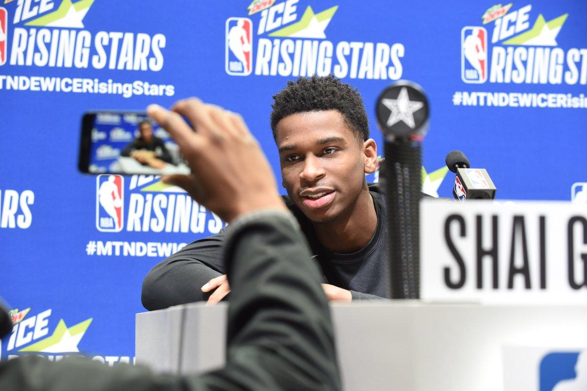 Media Day Shai.   #NBAAllStar   #ClipperNation
