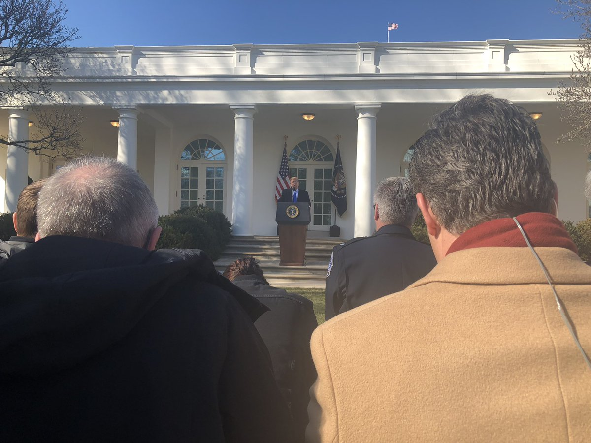 No prompter here in the Rose Garden