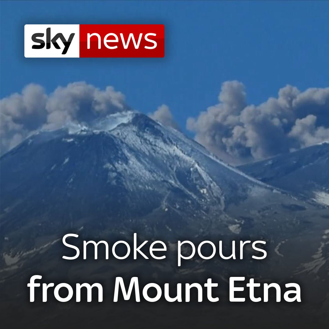 Mount Etna in Italy is sending ash spewing across the sky🌋  Smoke from the volcano, which triggered an earthquake last year, can disrupt flights to Catania in Sicily.   More on world news here: http://po.st/QAOLtO