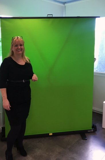 When @meridenprimary asked for support with their new Imagineering Suite it made perfect sense for Greensquare to fund their green screen. Here's our very own Victoria at the grand opening today  #imagine #STEM