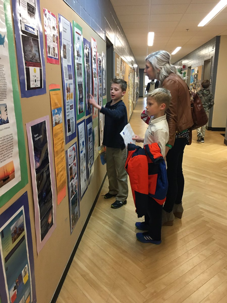 Showing off our learning to parents and grandparents at our Winter Learning Exhibition #mvpschool