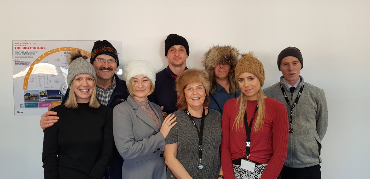 #Kiercrawley taking part in #woollyhatday2019  in aid of helping the homeless stay warm #OTFWoollyhatday.