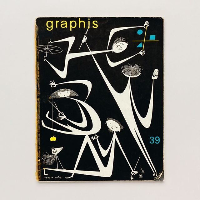 Cover of Graphis issue 39, January 1952, by Olle Eskell. As featured in Impact 1.0: Design magazines, journals and periodicals, 1922-73 (tap image for more details) #uniteditions #magazinecover #graphicdesign http://bit.ly/2tpJGhfpic.twitter.com/SBRW1e3hbx