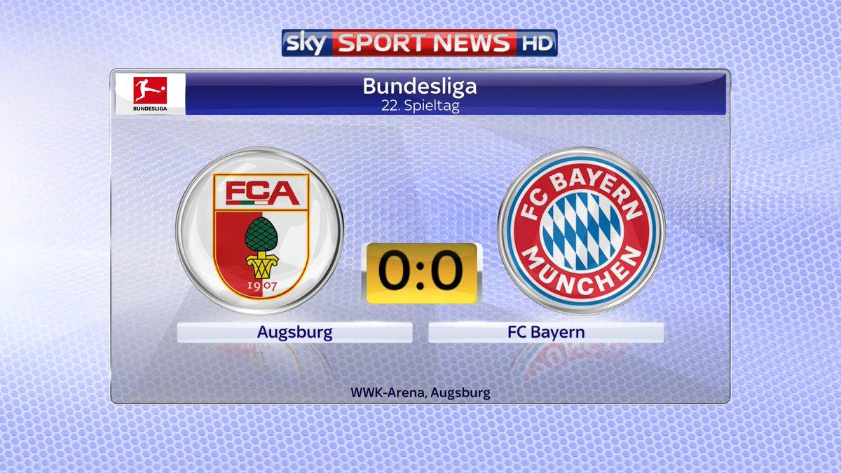 Anpfiff in der Bundesliga! JETZT im Liveticker:  Der FC Bayern probt in Augsburg für das Liverpool-Spiel ➡  https://t.co/flzIgyjxWv