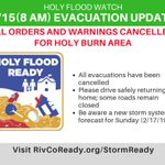 Image for the Tweet beginning: All evacuation warnings and orders