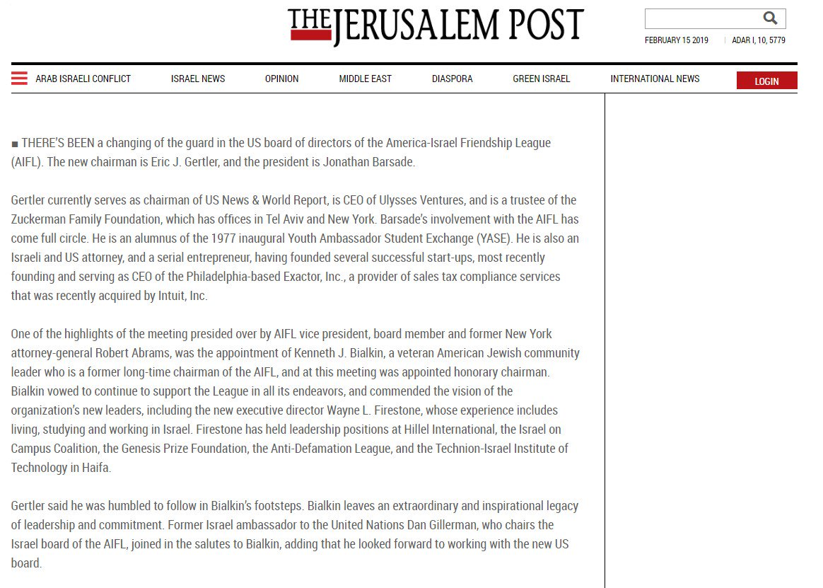 test Twitter Media - New AIFL Leadership featured in this weekend's @Jerusalem_Post !  For full article: https://t.co/7T79KbOpnC https://t.co/W7qvrJFaf4