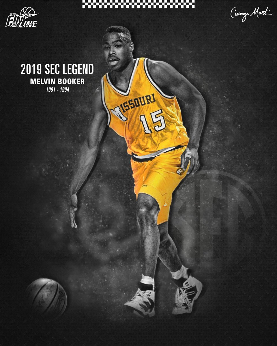 Congratulations to all-time #Mizzou great, Melvin Booker, for being recognized as part of this season's @SEC Legends Class!  #ToTheFinishLine 🏁🐅