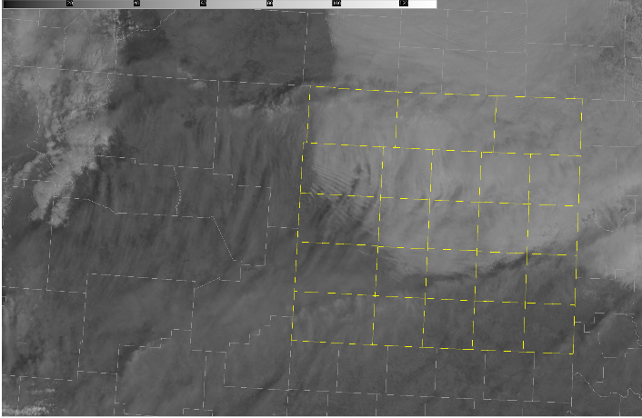 A cold front is making its way S-SW throughout the region as you can see with the visible satellite image with cloudy skies behind the front. Currently here at NWS Amarillo, it is 50 degrees, but 15 miles NNW of Amarillo at the Mesonet site, it is already 36 degrees  #phwx