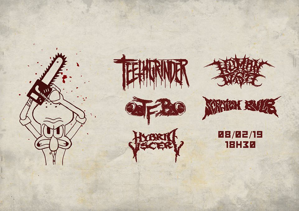 Another brutal night at MCP Apache with Teethgrinder, TFB, Scratch Bulb and Hybrid Viscery! Check out our report! #report #gig #concert #brutal #Teethgrinder #TFB #ScratchBulb #HybridViscery #deathmetal #grindcore #metal #music #MCPApache • GRIMM Gent