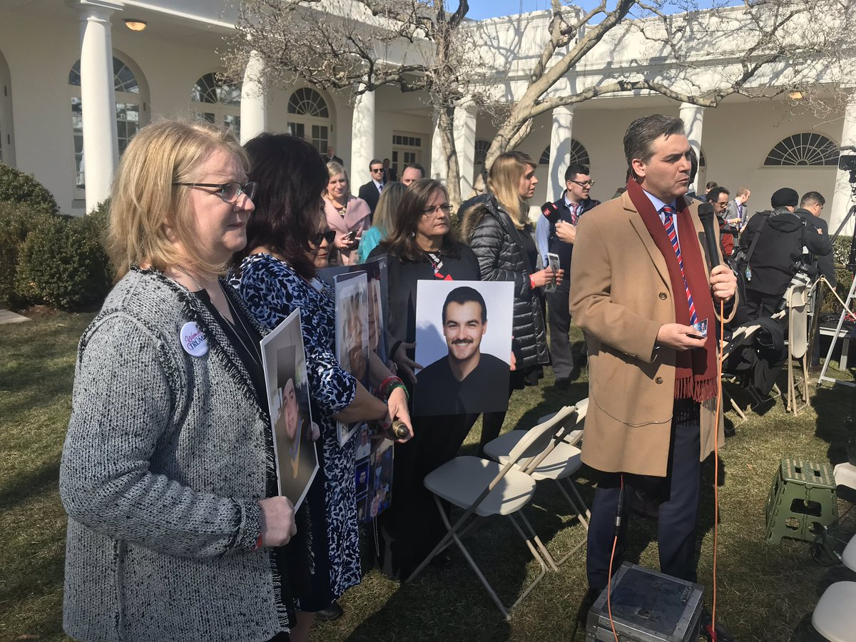 After Angel Moms confront Jim Acosta, he invites them to join him on air