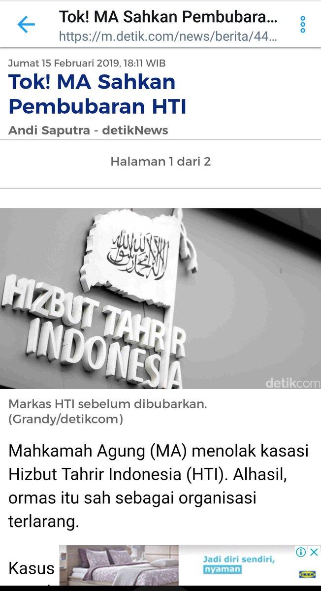 Alhamdulillah... Terimaksih Tuhan... Terimaksih Bangsa Indonesia Terimaksih Negara Indonesia  Terimaksih Pemerintah Terimakasih kpd siapapun yang memiliki SAHAM DALAM MENJAGA NKRI DARI ORMAS TERLARANG!  SAH! HTI BUBAR! HTI ORMAS TERLARANG!