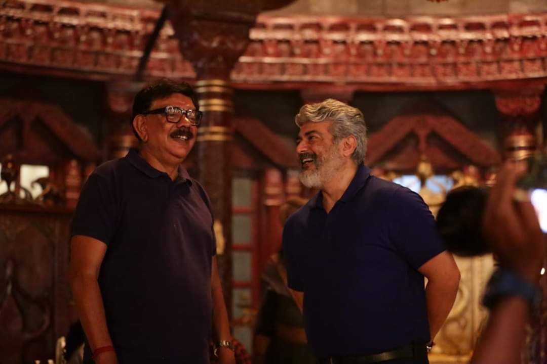 "#Thala & @priyadarshandir #Marakkar Location 'Ramoji Film City😊  Waiting for ""Thala - Thala""  Combo Stills !"