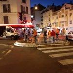 Image for the Tweet beginning: Les rues barrées à la