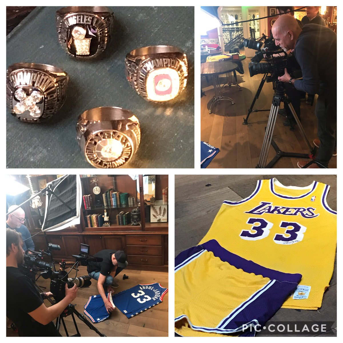 In Charlotte for NBA All-Star Weekend with @kaj33 the GOAT doing a photo shoot with some of his items in our upcoming auction @GoldinAuctions! #NBAAllStarWeekend #NBATwitter