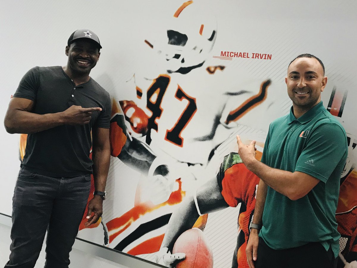 Honored to meet one of the best to ever do it here at the 🙌🏾. @michaelirvin88 #WRU #SBrother