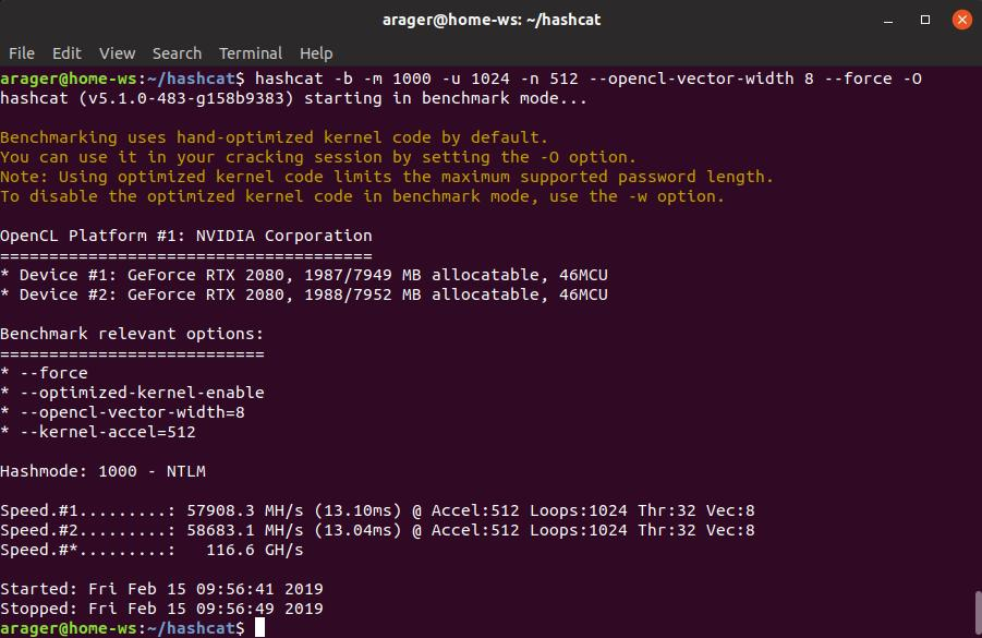 cracking ntlm hashes with hashcat