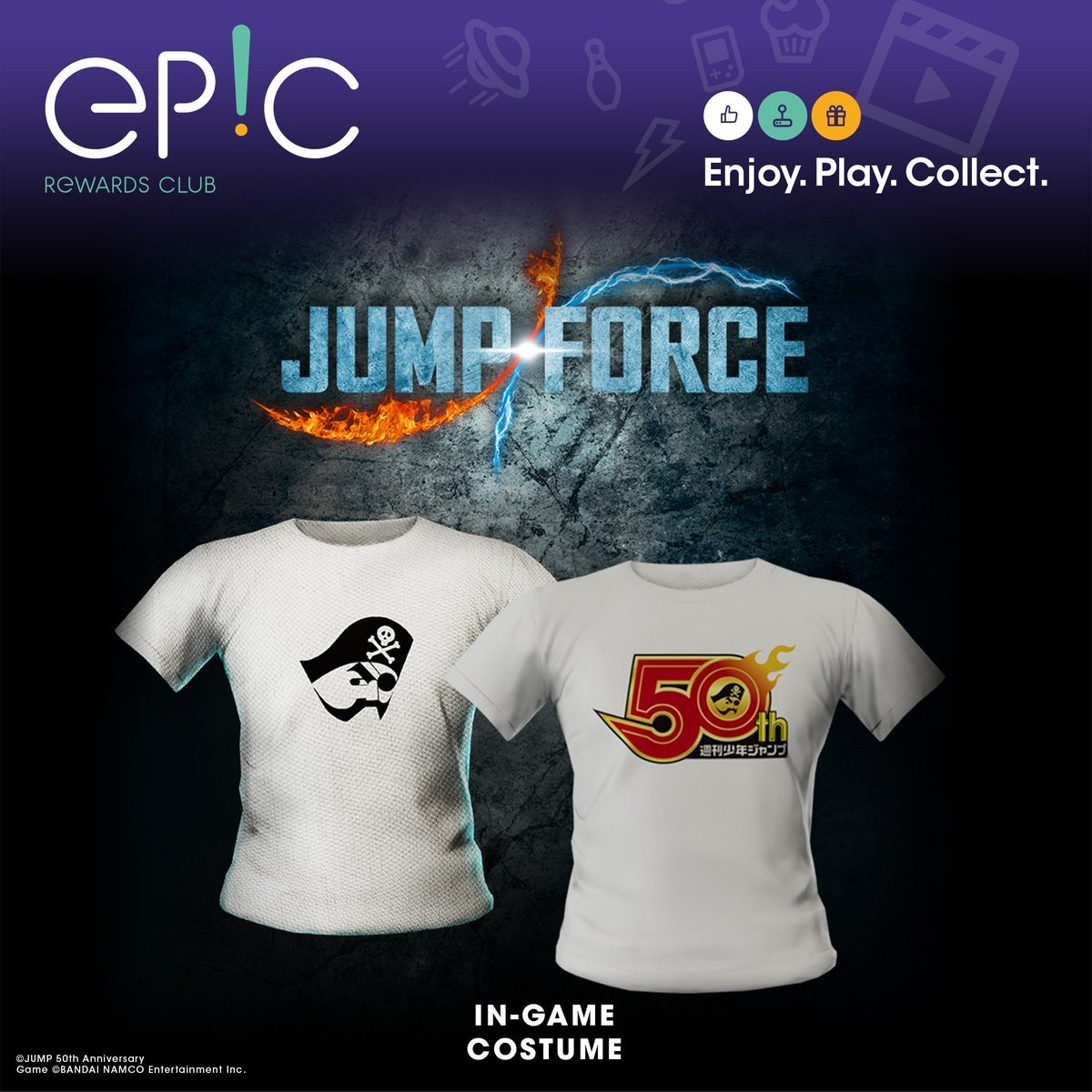 The EP!C Rewards Club has been given a complete facelift and welcomes you back now on https://club.bandainamcoent.eu Celebrate the release of JUMP FORCE by picking up these nice PS4 free DLC or make your choice from over 70 gifts (digital or physical) available!