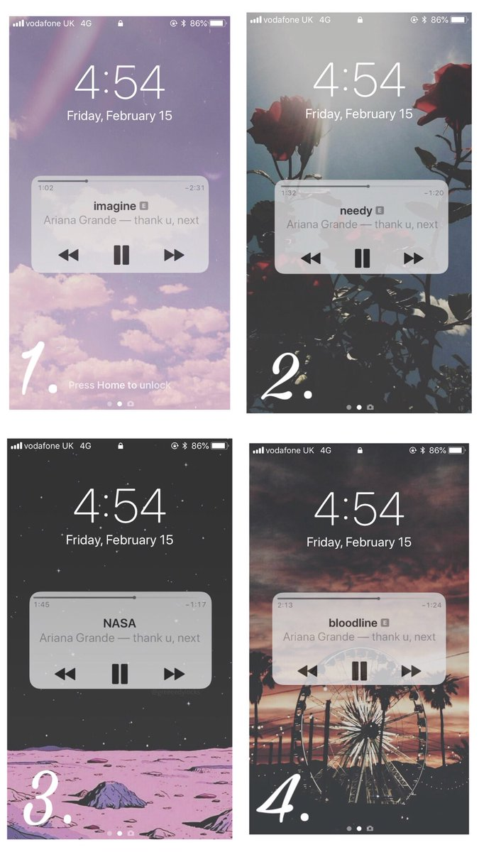 thank u, next album lock screens rt if you want comment which ones must be following  #thankunext <br>http://pic.twitter.com/BoZSL9K2Q5