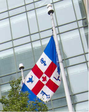 Today is #FlagDay! DYK the #CanadianFlag is flown at SickKids along with our very own flag? Read about the history of the SickKids flag here: http://ow.ly/UhhY30nIjdB