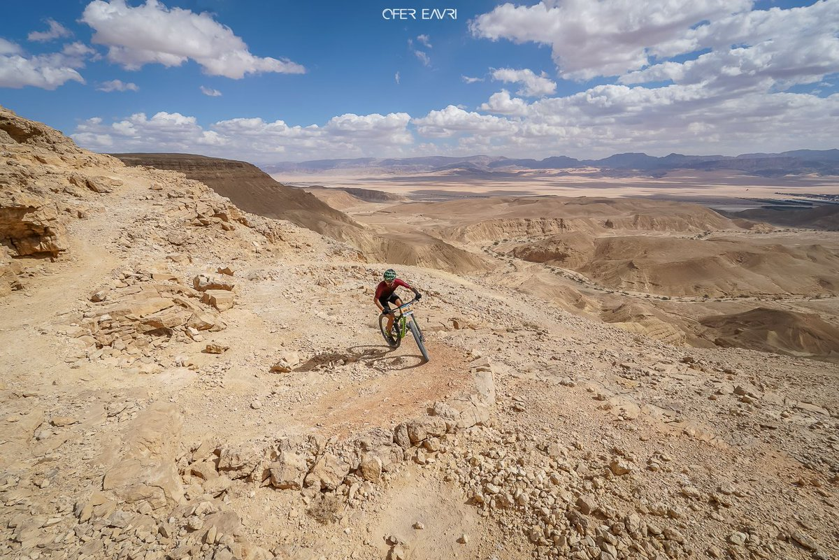 #Israel is a paradise for mountain bikers! 🚵🏽‍♂️🚵🏼‍♀️ This week, cyclists in the Samarathon #mountainbike race are adventuring on trails through the #Negev desert. 🏜 #VisitIsrael (📷: Ofer Eavri)