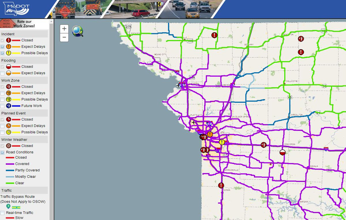 Modot Traffic Map MoDOT Kansas City on Twitter: