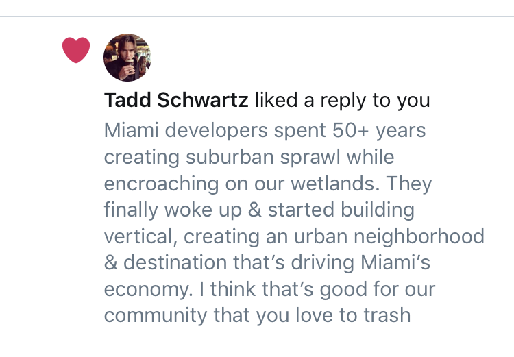 P.S. @TaddSchwartz you must be new to this PR thing. Not a good look to like your own tweet, bro.