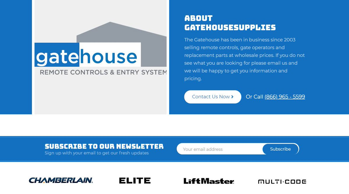 gatehouse remote controls coupon code