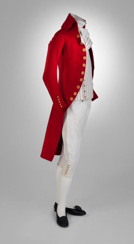 #FridayNightFrills 18th Century men&#39;s ensemble, delicious red coat, 1787-1792 via @metmuseum<br>http://pic.twitter.com/VMyN7CY4BD