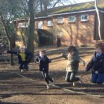 The children have been getting some skipping practice in Forest School in advance of the skipathon for @TheBHF after half-term. #skipping #healthyheart #charityday #forestschool #LongacreLife