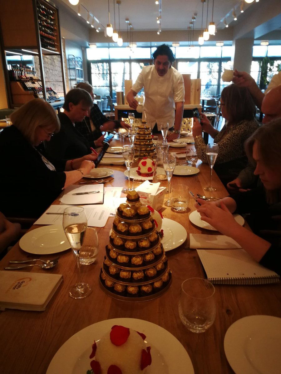 Amazing day at Fiume Restaurant celebrating the incredible #Desserts created by @francescocook in partnership with #ferrerofoodservice. Thanks @HenryHNorman @CMellor_03 @She_Eggleston @lisajenkins02 and @luisawelch for joining us. #ferrerofoodservice