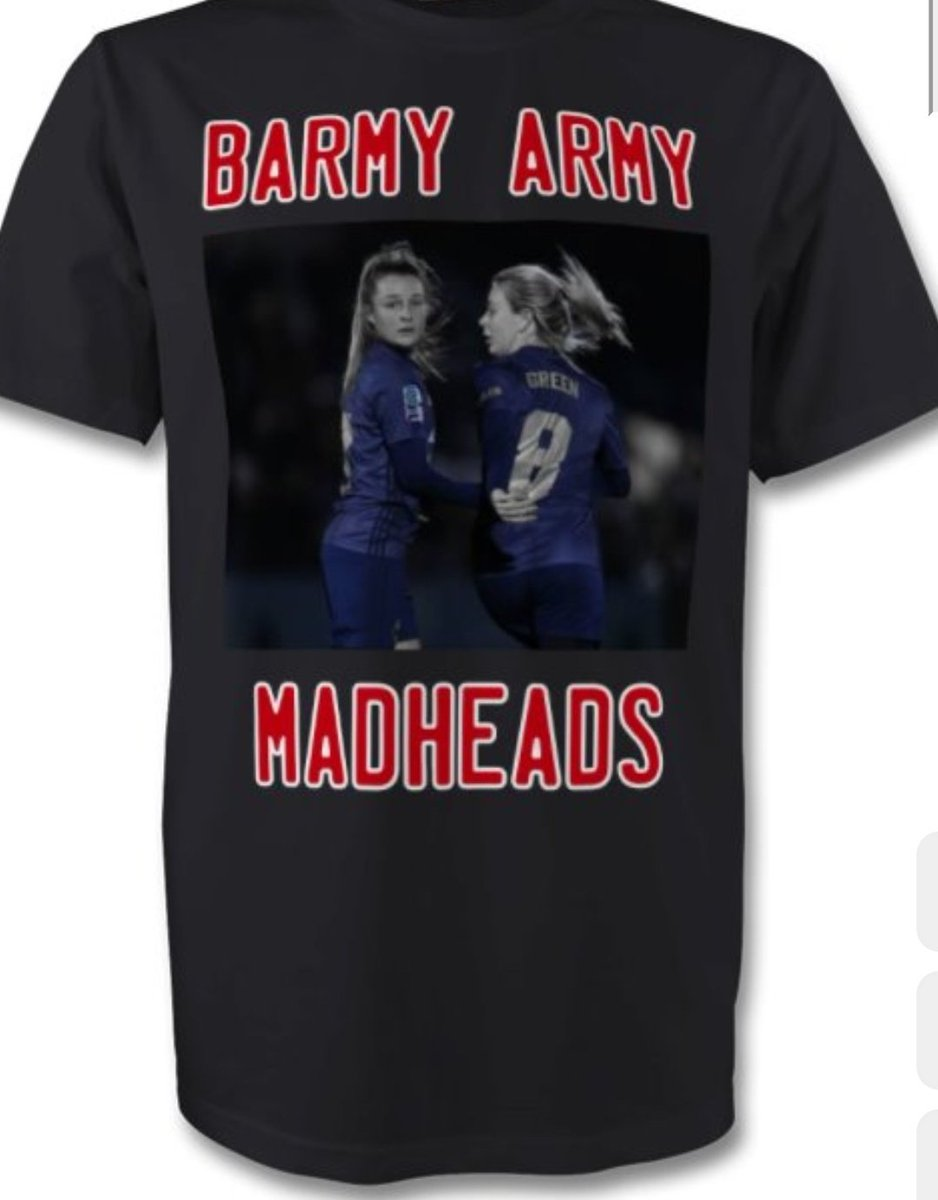 New @muwfcbarmyarmy desgins available to order with all the other desgins from Monday. 3rd shirt Barmy Army  Madhead tee feat @ellatoone99 & @mollie_green97 the fade away @MillieTurner_ tee @ellatoone99 Tee and Lizzie Arnot tee #BarmyArmy #TShirts #TakingOrdersFromMonday #MUWomen