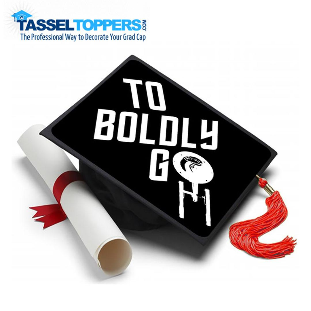 Boldy Go - Star Trek Grad Cap Tassel Topper! Check out our large selection or Design Your Own >> https://goo.gl/5AFwfS #startrek #starwars #sciencefiction #cosplay #gradgifts #graduationparty #graduationday #graduation2019 #senioritis #gm2021 #seniorpictures #gradgifts