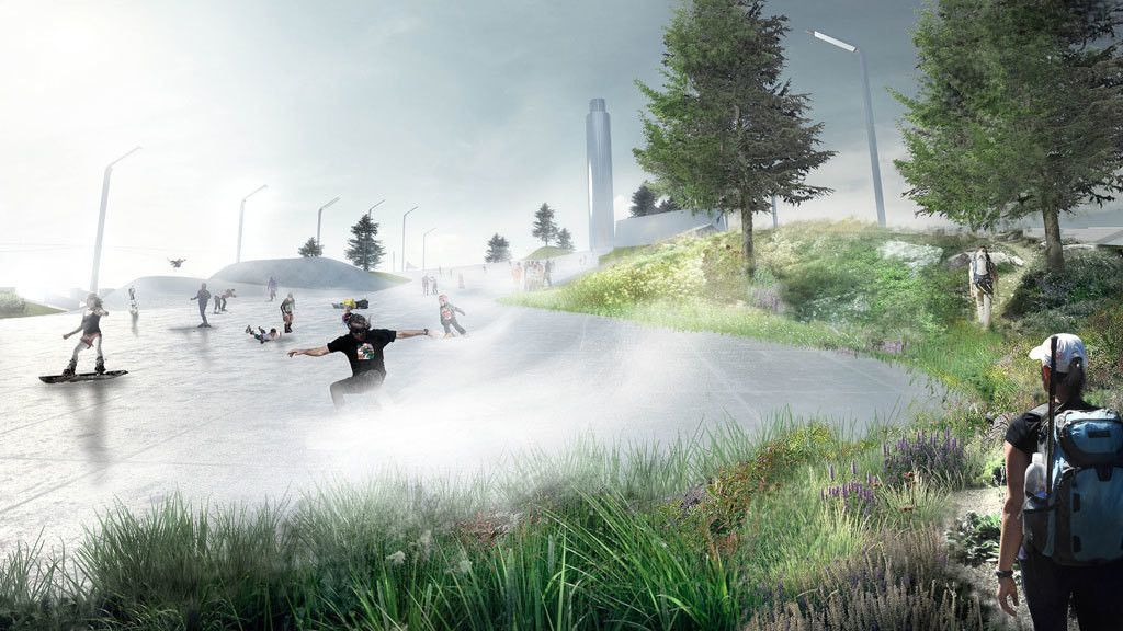 This waste treatment plant in Copenhagen has a ski slope on its roof https://wef.ch/2DLQQkr #innovation #sustainability