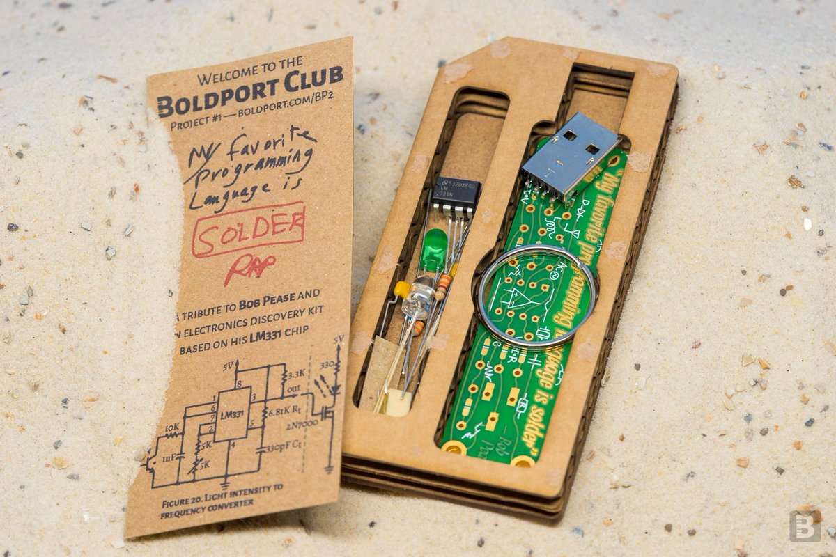 Blast from the past. The original #BoldportClub; was project #1, March 2016! ;)