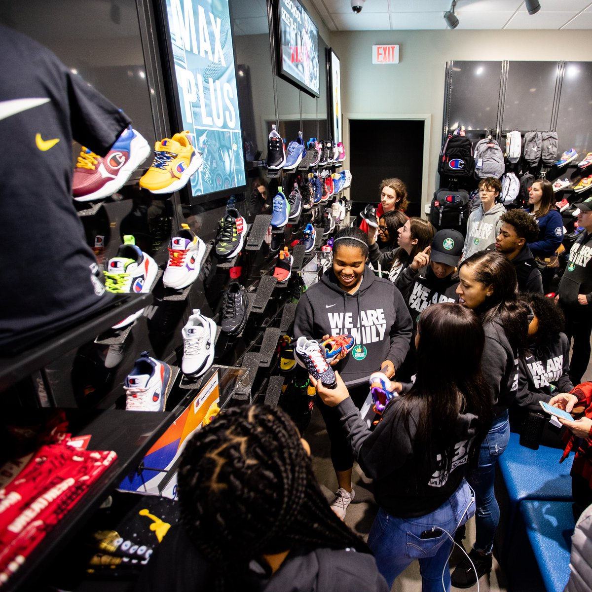 Our 330 Ambassadors have brought the Akron ❤️ to Charlotte, NC as part of @KingJames' mission during #NBAAllStar to leave the host city better than we found it.   Their journey started with a pair of shoes for some special children 👟⬇️