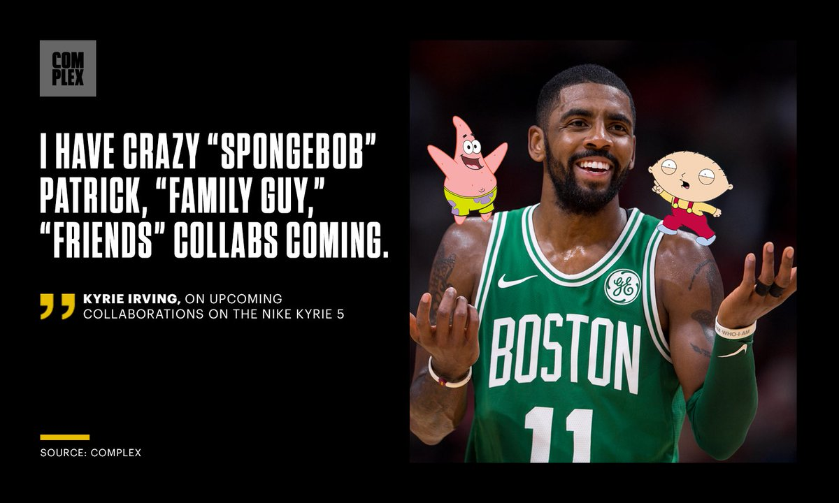 Some of @KyrieIrving's favorite TV shows are inspiring upcoming collabs. 📺
