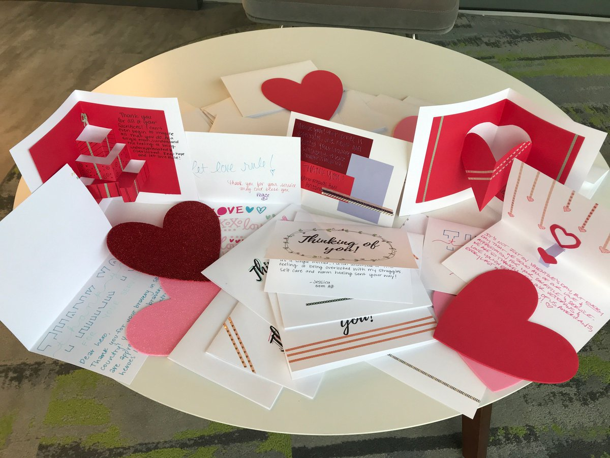 ❤️No better way to celebrate #ValentinesDay! Our team made cards benefiting @soldiersangels, which provides aid and comfort to the men and women who have served our country. #GPECgives #SupportOurTroops