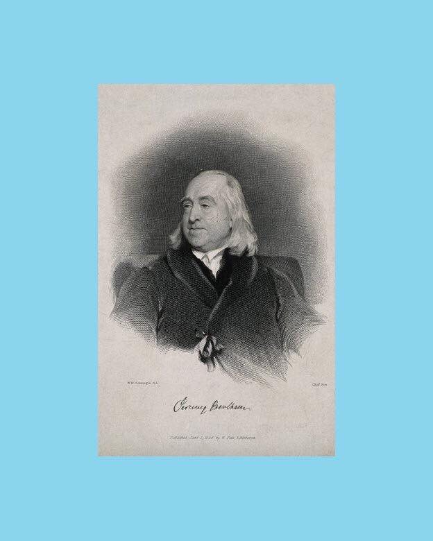 Jeremy Bentham born #OTD 1748. His essay 'Offences Against One's Self' protested his society's persecution of homosexual men. It is one of the first known arguments for homosexual law reform in England, although it was unpublished in his lifetime #QueerVAM #YearOfQueers