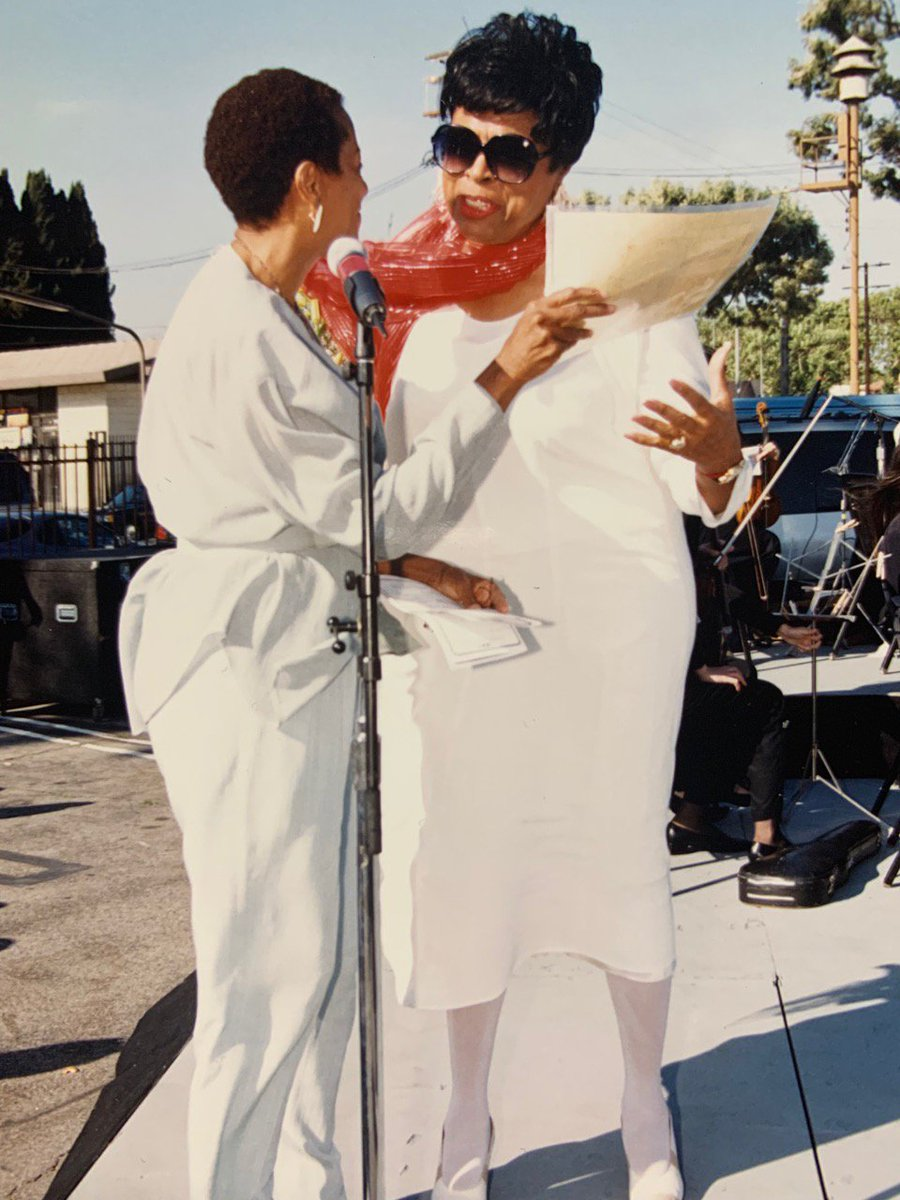 Publisher's Photo of the Day: Black Women in Action - Marla Gibbs (left) with Diane Watson in 1997. #85YearsofLASentinel #BlackPress #BlackNews #BlackPress For more head over to http://lasentinel.net!