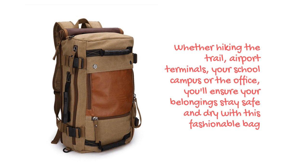 #shoulderbag #classic #backpack #outdoor #travel #Rucksack #Stylish #Bag #Kaka #Traveller #fun #life #hiking #nature  KAKA Large Backpack/Shoulder Bag  $60.25 free shipping   https://bit.ly/2Mxo2yW  Fashionable and versatile bag.