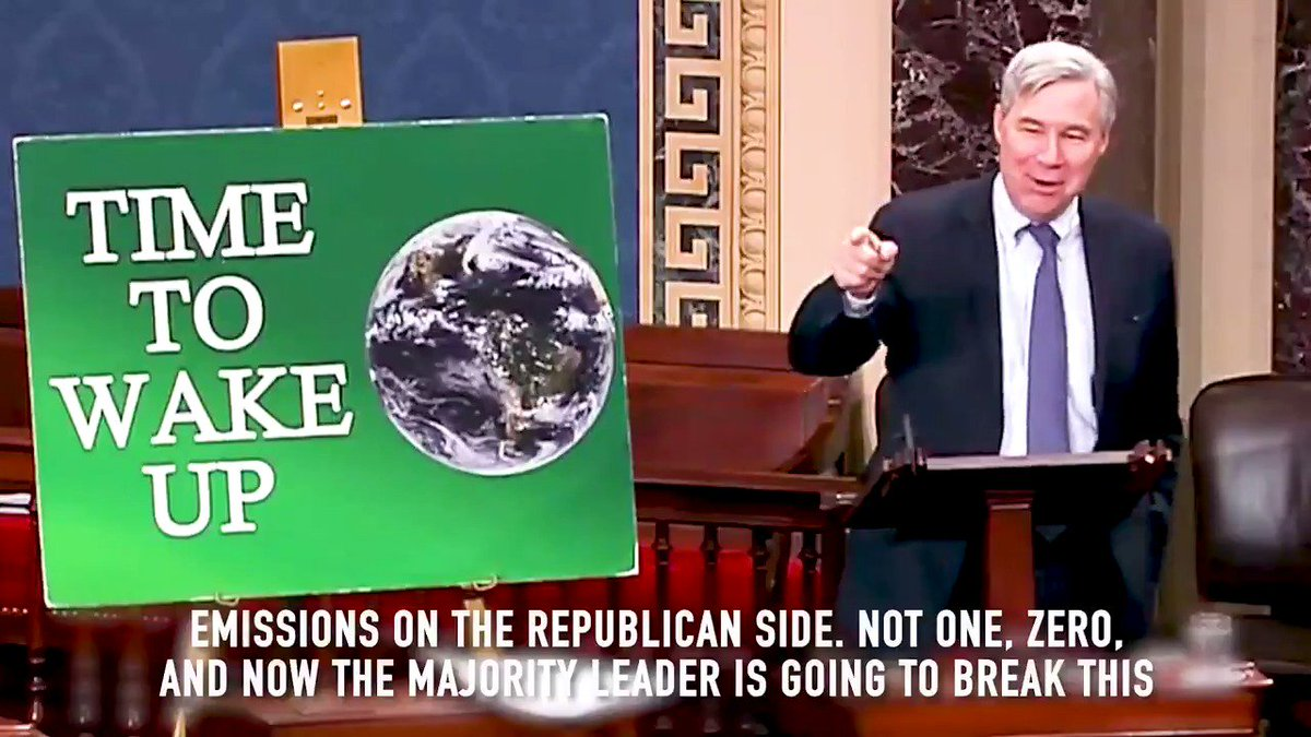 Since #CitizensUnited, no @SenateGOP members have brought up a serious piece of legislation to limit carbon dioxide emissions. Now, @senatemjdldr is going to break this streak & bring up the first carbon-related bill with the intention to vote against it. Who does that? And why?