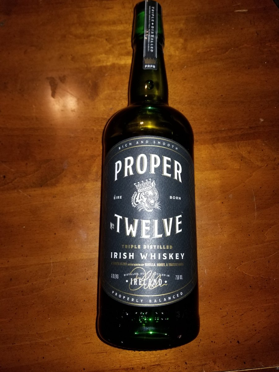 Finally got my hands on some Proper Twelve, the smoothest Irish Whiskey I have ever had @TheNotoriousMMA