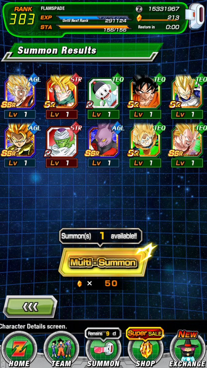 @Rhymestyle @Nanogenix @DFreeDBZHD @GamingTallen these multis many I can't freaking believe them all back to back with each other and all were fake out animations man I felt like nano getting the fake outs #blessed #DOKKANBATTLE