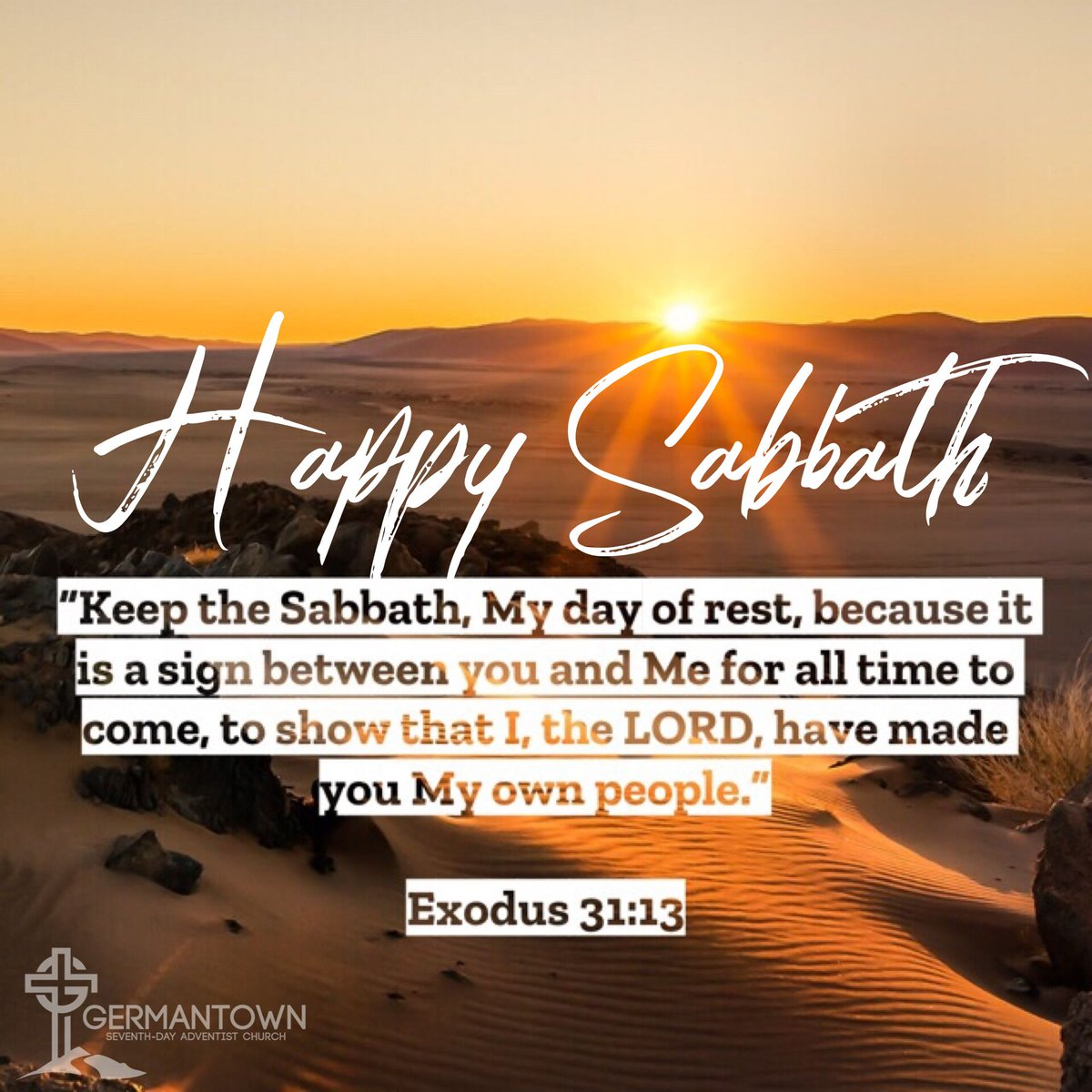 The Sabbath is finally here! ☺️ Happy Sabbath to all our friends and family around the world!  #Exodus31v13 #Happy #Blessed #Rest #Reset #Reflect #Sabbath #SabbathDay #Bible #Scripture #TheWord #seventhdayadventist #sda #germantownsda #germantown215 #learn #love #lead #philly