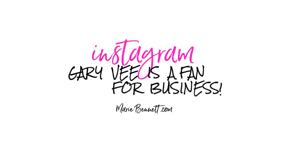 #garyvee is a fan of #instagram for business BUT you just don't get it - right?  You tried & it's not working for you.  There are very specific ways to organically grow your followers & engagement & unless you have the secret sauce, you'll struggle...  http://bit.ly/IG-tools <==