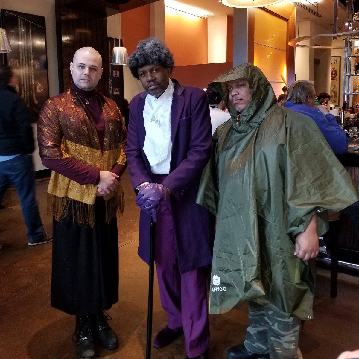 The Horde(Patricia), Mr Glass (Elijah Price), and the Hero (David Dunn) #katsucon2019 #glassmovie #MrGlass #Unbreakable #Split<br>http://pic.twitter.com/2JAVk1WFos