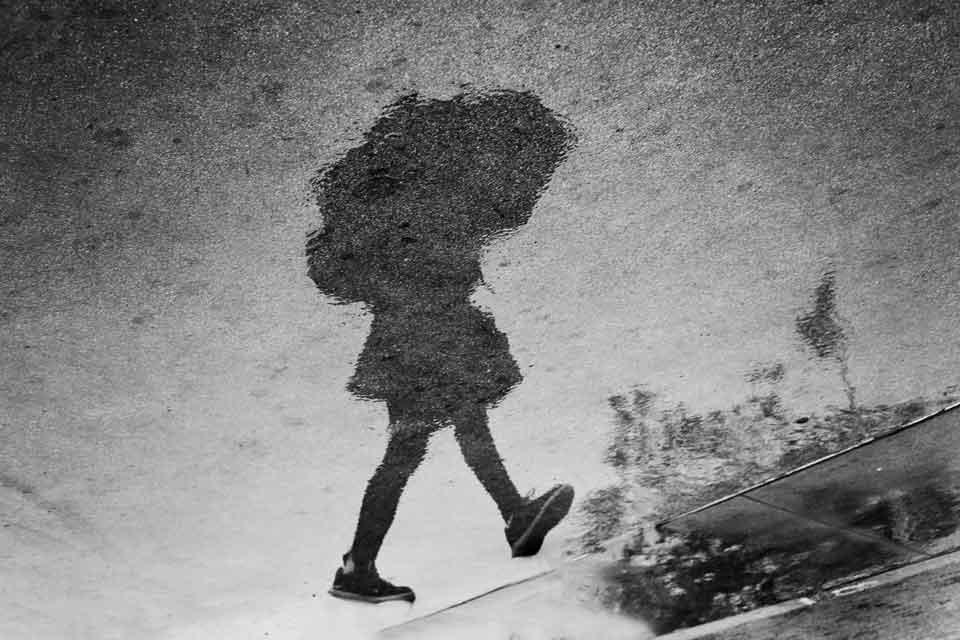 Puddle Reflection #BonnieNealPhoto #PuddleReflection #Reflection #Rain #WaterReflection #SurrealPhotography #AbstractPhotography #FineArtPhotography #BNW #BlackandWhitePhotography #BlackandWhite #StreetPhotography #Umbrella #LosAngeles #CanonFavPic