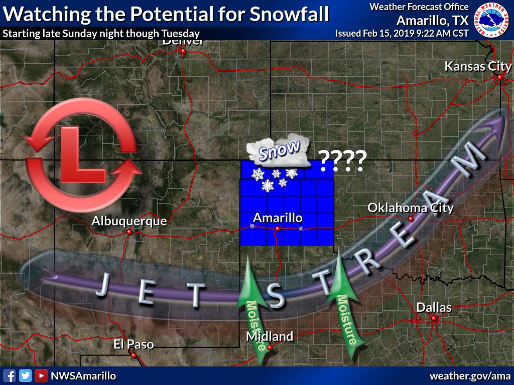 As everyone prepares for their holiday weekend plans, we are looking ahead to some possible snowfall in the forecast starting late Sunday night into Tuesday. It is still several days out but it is always good to plan ahead and be prepared! #phwx #TXwx  #OKwx