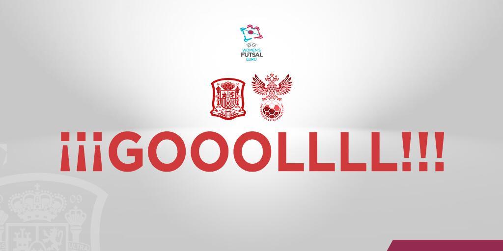 ¡¡GOOOL de Vane Sotelo (@Vaneyvienen) !!  La gallega adelanta a España, anotando el PRIMER GOL en competición oficial 👊   🇷🇺0 🆚 1 🇪🇸   17'     📺 http://www.sefutbol.com   #WEUROFutsal