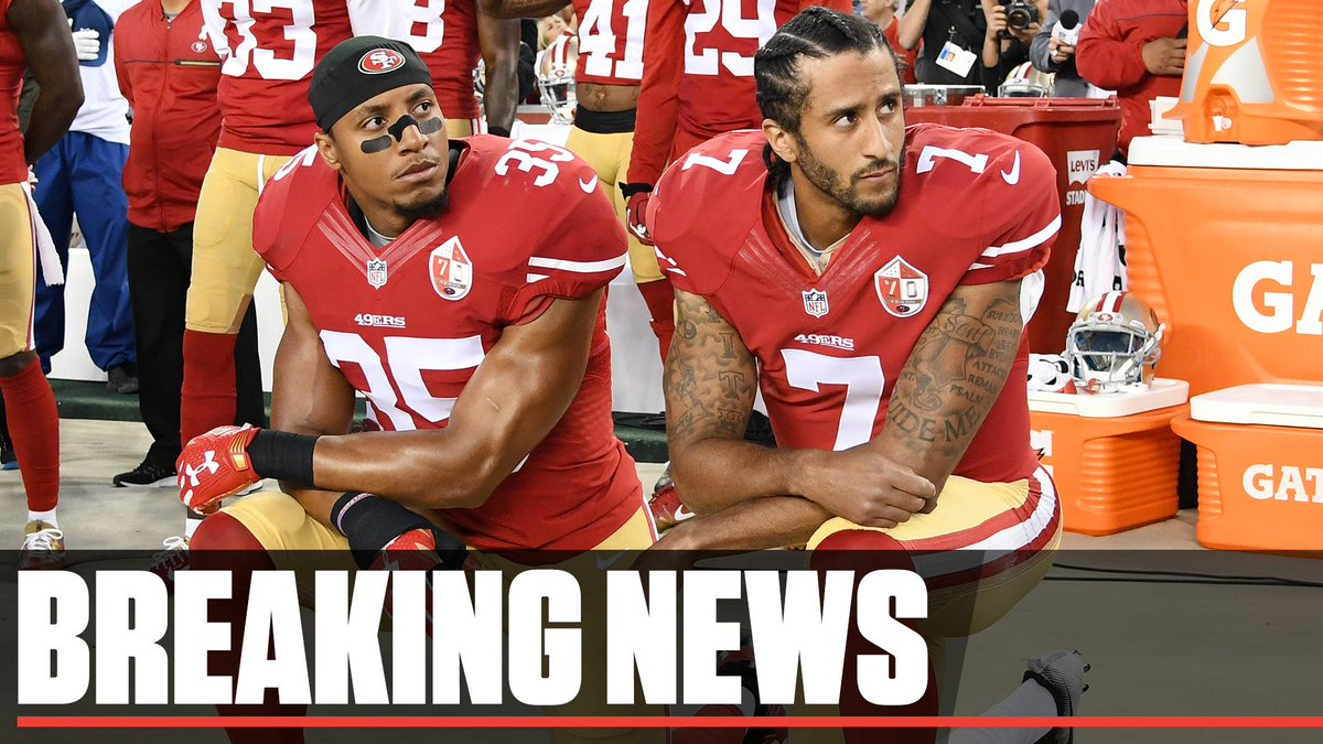 Breaking: The NFL and Colin Kaepernick and Eric Reid have issued a joint statement saying they had resolved the collusion grievance the players had filed.